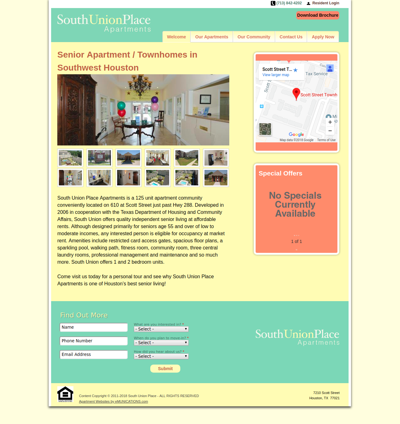 Apartments Websites: South Union Place Apartment Homes