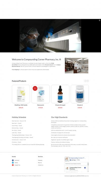 Website for Pharmacy