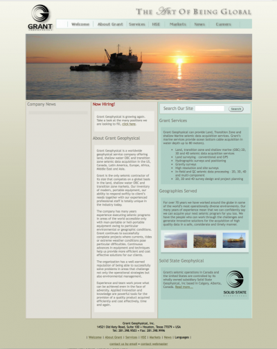Websites for oil and gas